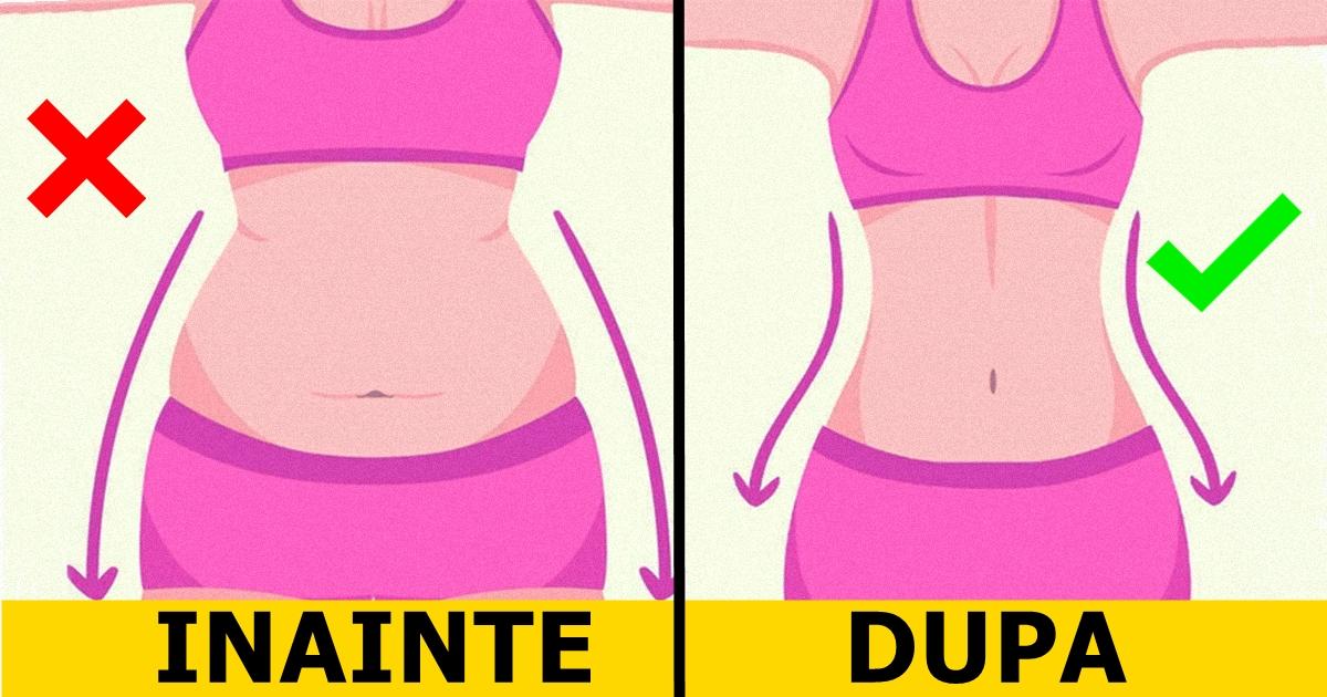 burta șorț înainte și după pierderea în greutate)