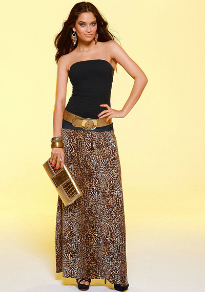 Femei moda vara Casual dungi fusta Maxi Bust femei slăbire o linie plisata fusta rochie