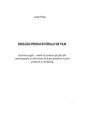 slabirea cinematografiei cinematografice