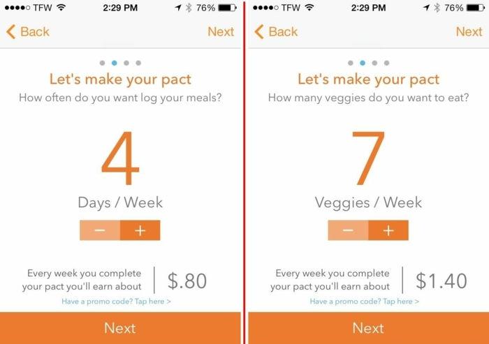 compararea aplicațiilor pentru pierderea în greutate